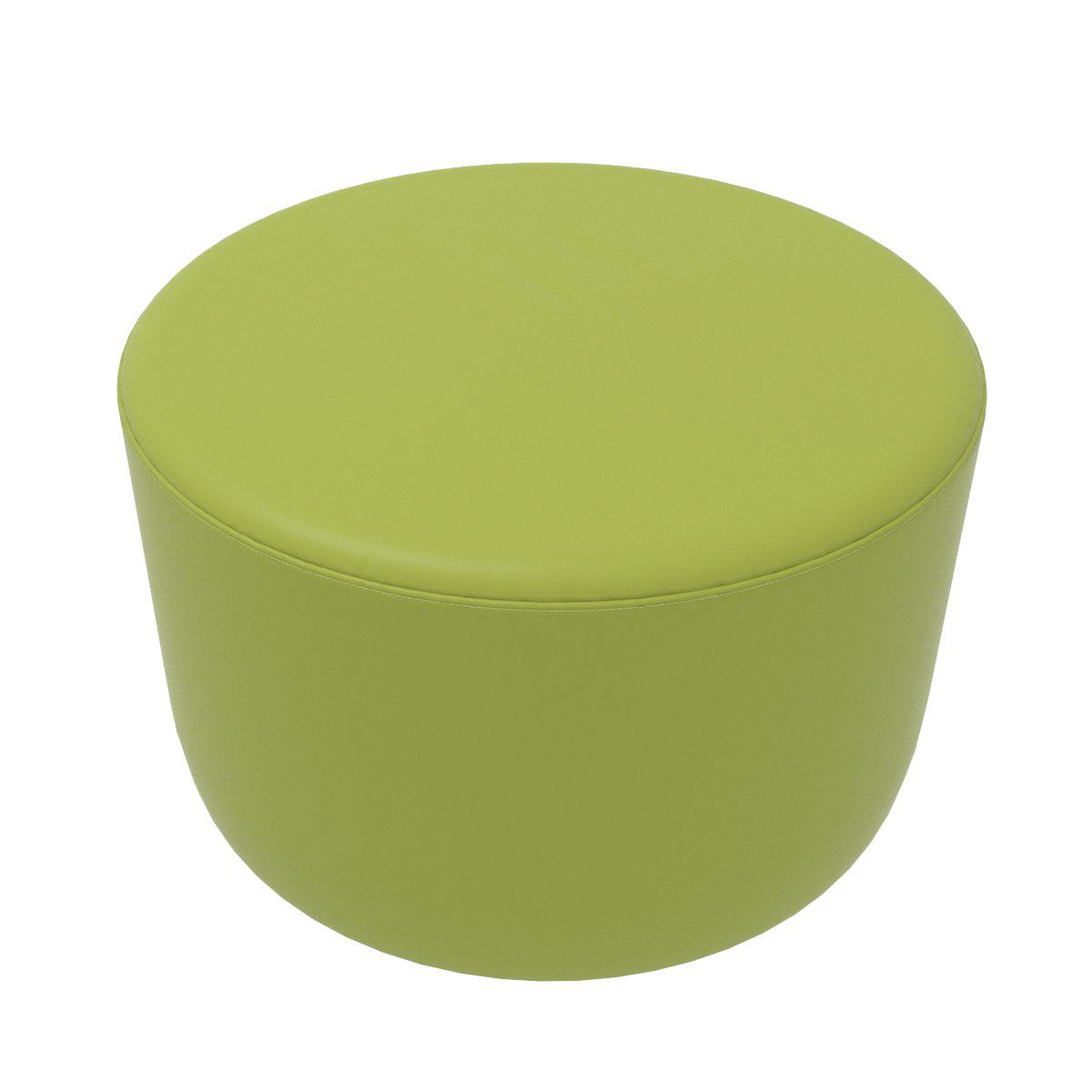 "Fomcore Ottoman Series 30"" Round Ottoman with 100% ALL-FOAM CORE, Antibacterial Vinyl Upholstery, LIFETIME WARRANTY"