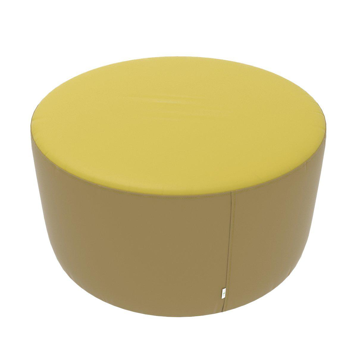 "Fomcore Ottoman Series 36"" Round Ottoman with 100% ALL-FOAM CORE, Antibacterial Vinyl Upholstery, LIFETIME WARRANTY"
