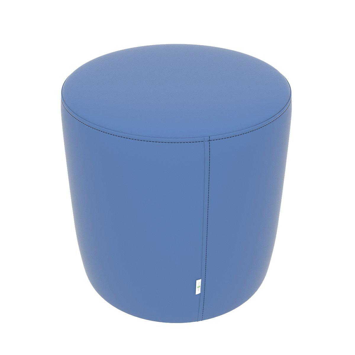 "Fomcore Ottoman Series 18"" Round Ottoman with 100% ALL-FOAM CORE, Antibacterial Vinyl Seat with Patterned Vinyl Sides, LIFETIME WARRANTY"
