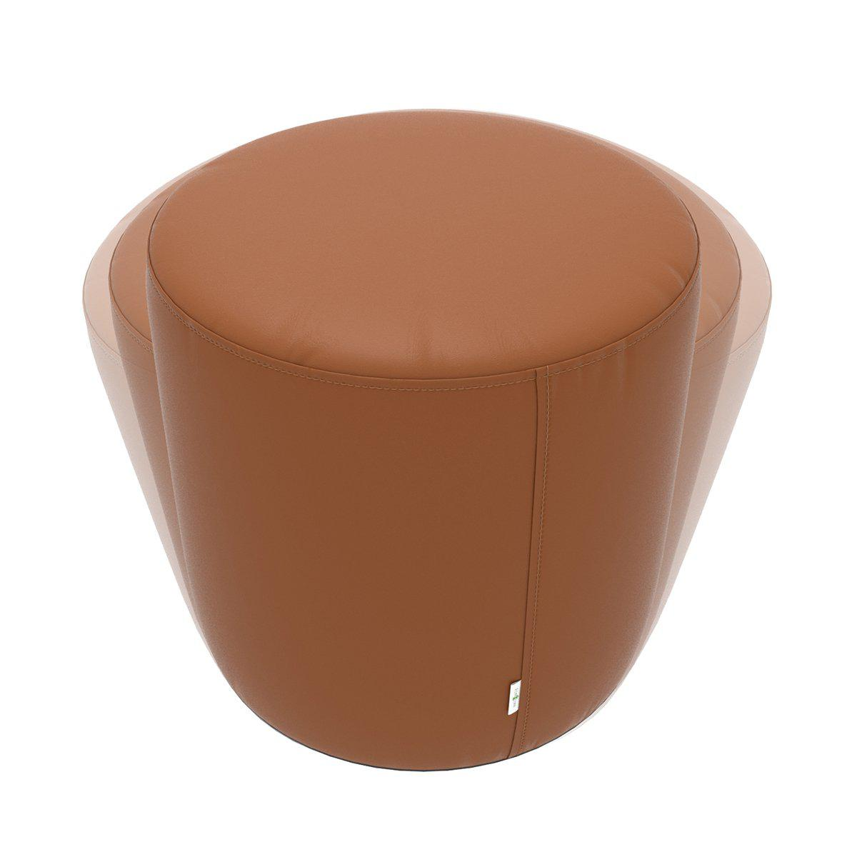 Fomcore Ottoman Series ROK with 100% ALL-FOAM CORE, Antibacterial Vinyl Seat with Patterned Vinyl Sides, LIFETIME WARRANTY