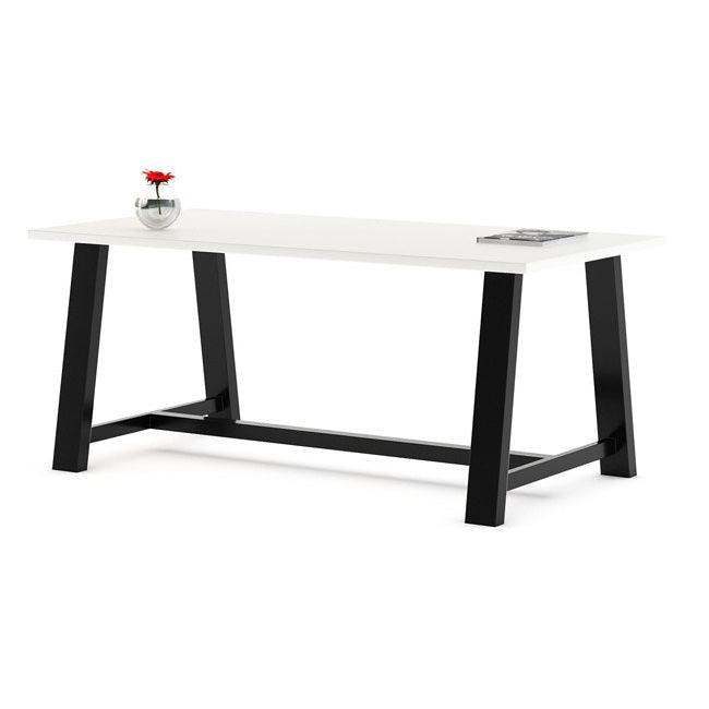"Midtown Dry Erase Table, Café Height, 42"" x 84"" x 29""H, High Pressure Laminate Top, 3mm PVC Edge, 72"" Base"