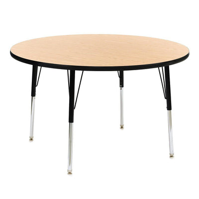 9400 Series Adjustable Height Round Activity Table with High-Pressure Laminate Top, 48""