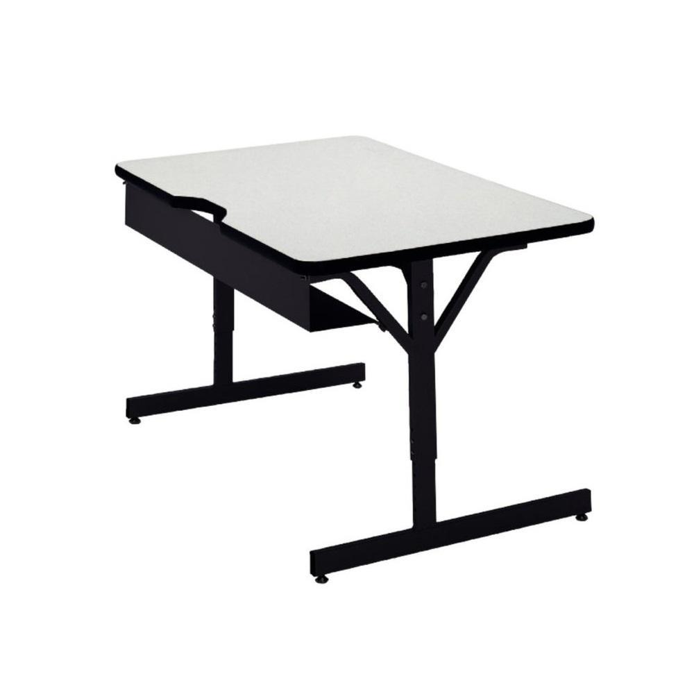 "Compu-Table Adjustable-Height Computer Table, 24"" x 60"""