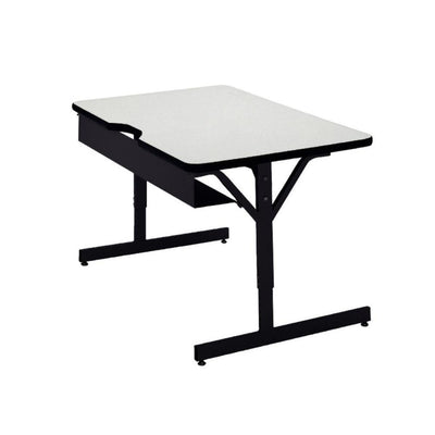 "Compu-Table Adjustable-Height Computer Table, 30"" x 60"""