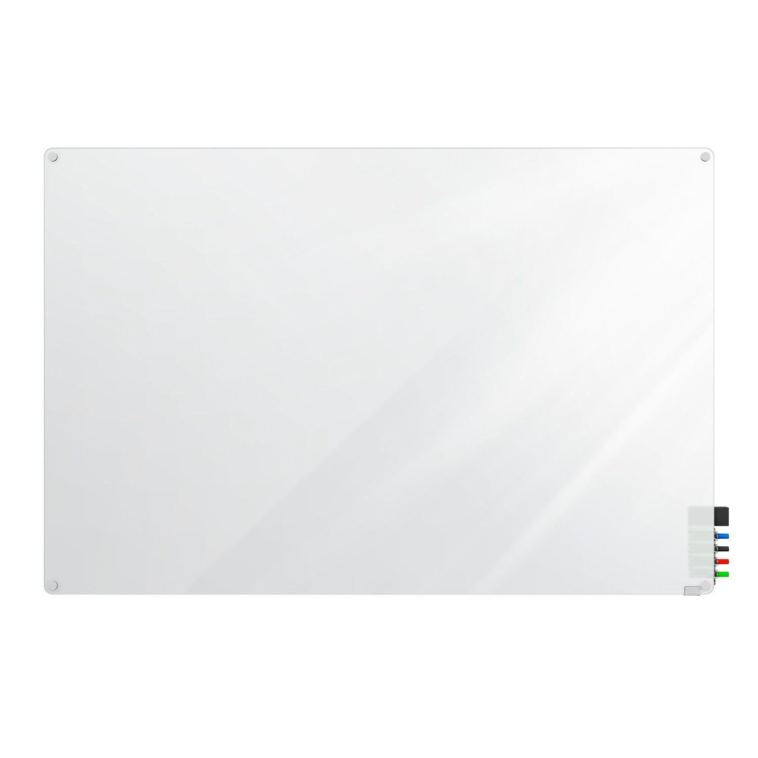 Harmony Frosted Glassboard, Non-Magnetic, Radius Corners, 4' H x 4' W