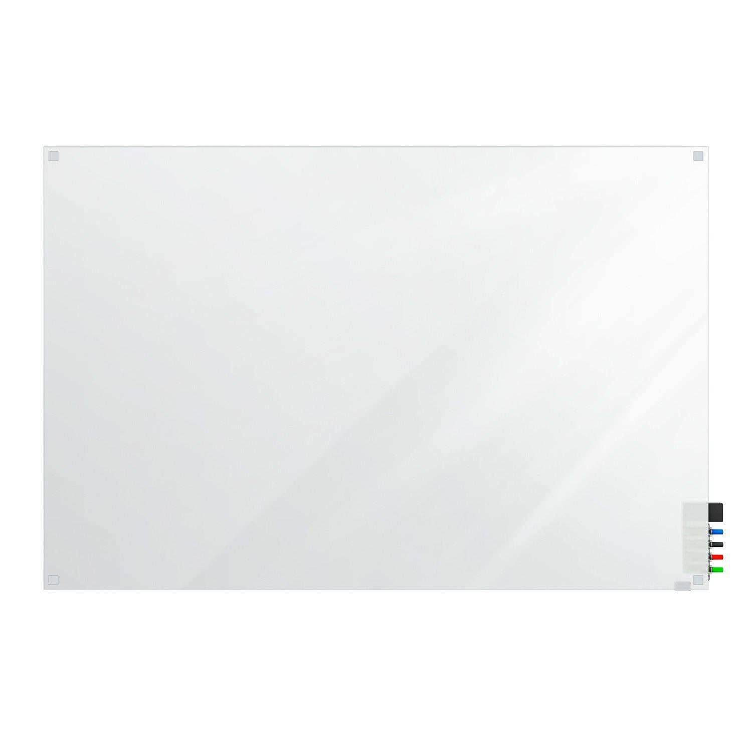 Harmony Frosted Glassboard, Non-Magnetic, Square Corners, 3' H x 4' W