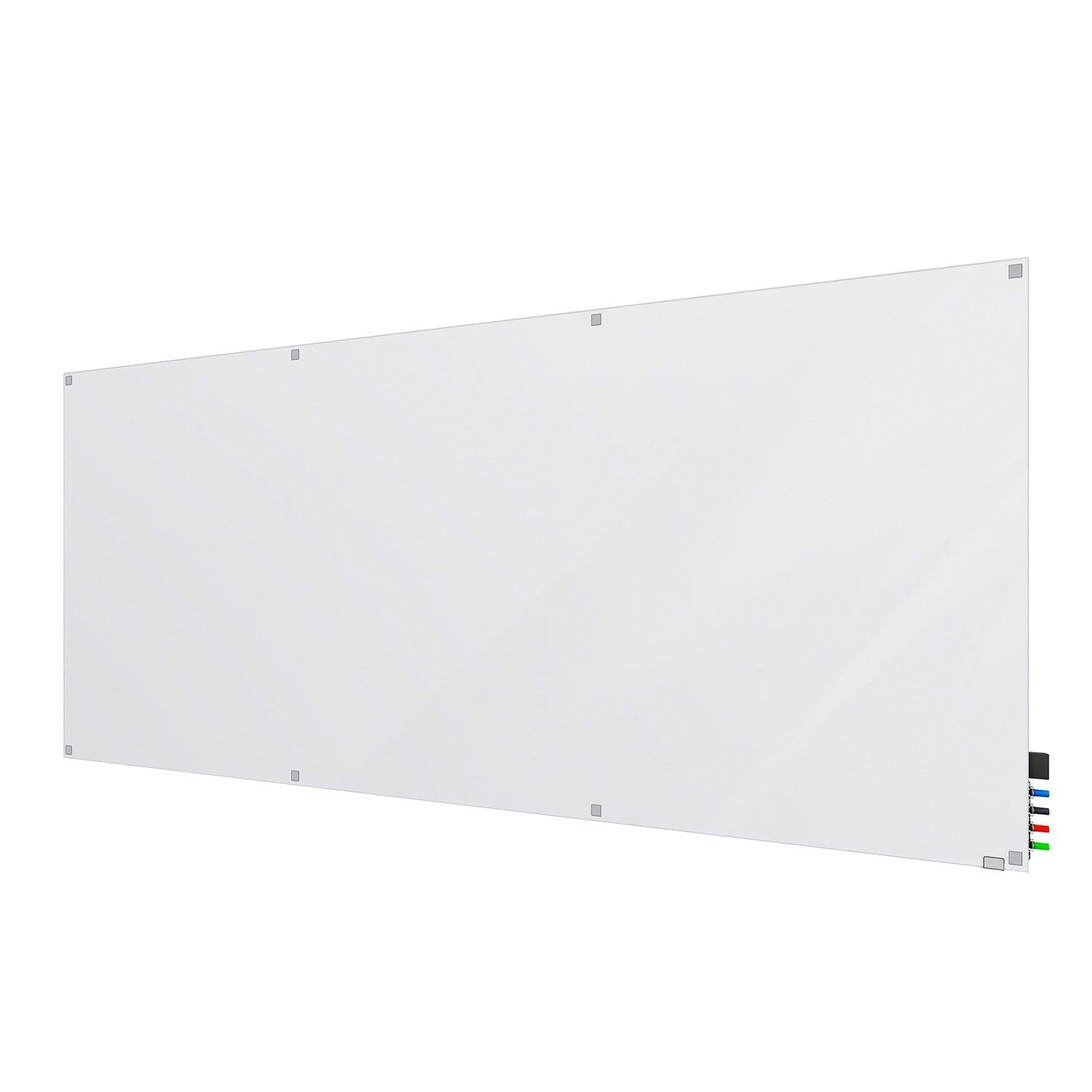 Harmony Frosted Glassboard, Non-Magnetic, Square Corners, 4' H x 10' W