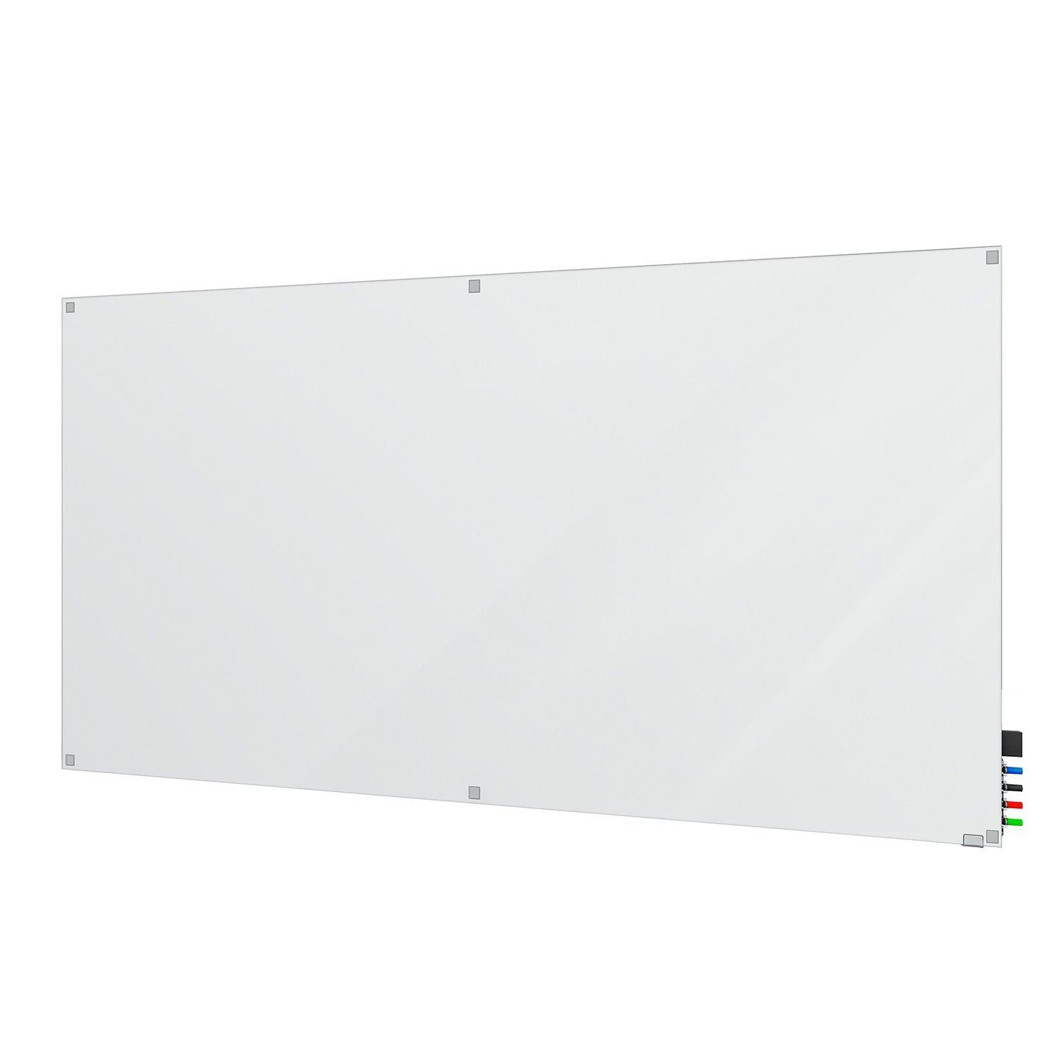 Harmony Frosted Glassboard, Non-Magnetic, Square Corners, 4' H x 6' W