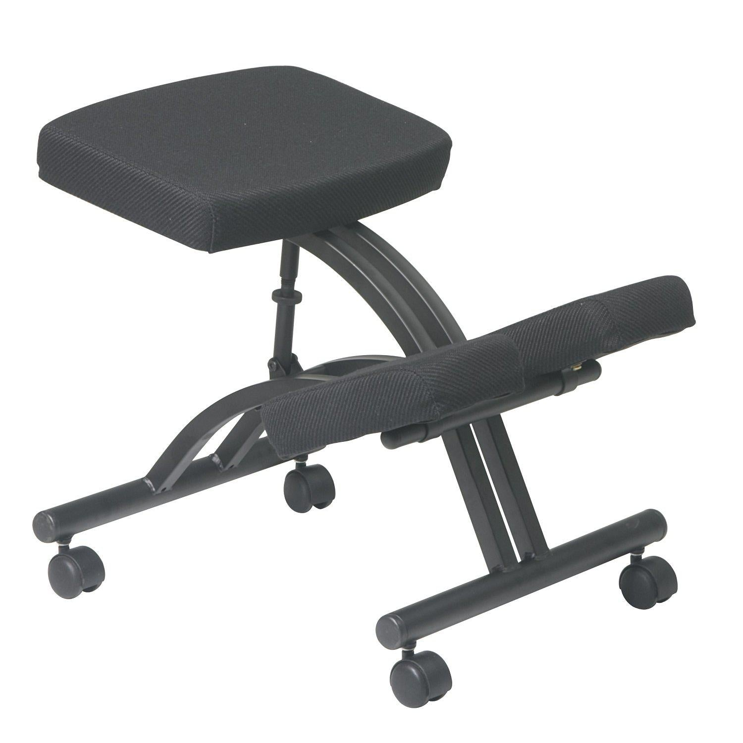 Ergonomically Designed Knee Chair with Casters and Memory Foam