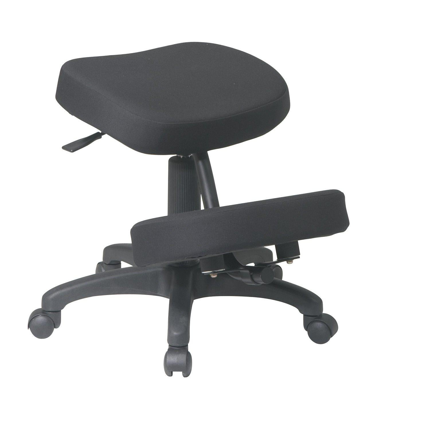 Ergonomically Designed Knee Chair with 5 Star Base, Casters and Memory Foam