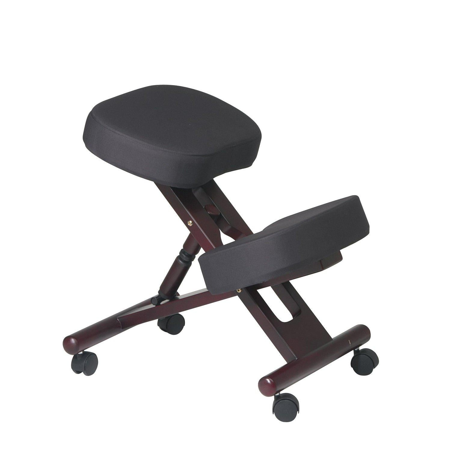 Ergonomically Designed Wood Knee Chair with Casters and Memory Foam