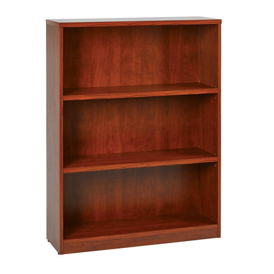 "48"" High 3-Shelf Laminate Bookcase with 1"" Thick Shelves"
