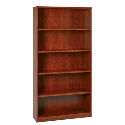 "72"" High 5-Shelf Laminate Bookcase with 1"" Thick Shelves"