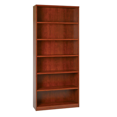 "84"" High 6-Shelf Laminate Bookcase with 1"" Thick Shelves"