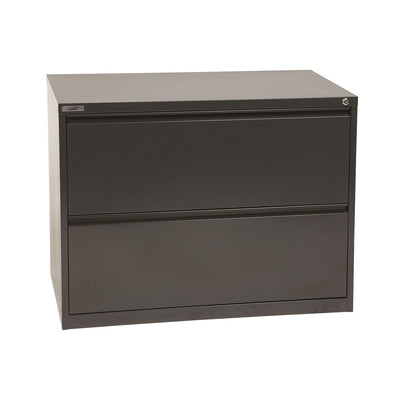 "Heavy-Duty Metal Lateral File, 36"" Wide, 2 Drawers"