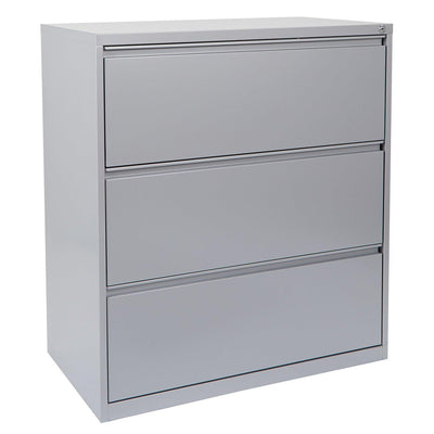 "Heavy-Duty Metal Lateral File, 36"" Wide, 3 Drawers"