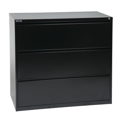 "Heavy-Duty Metal Lateral File, 42"" Wide, 3 Drawers"