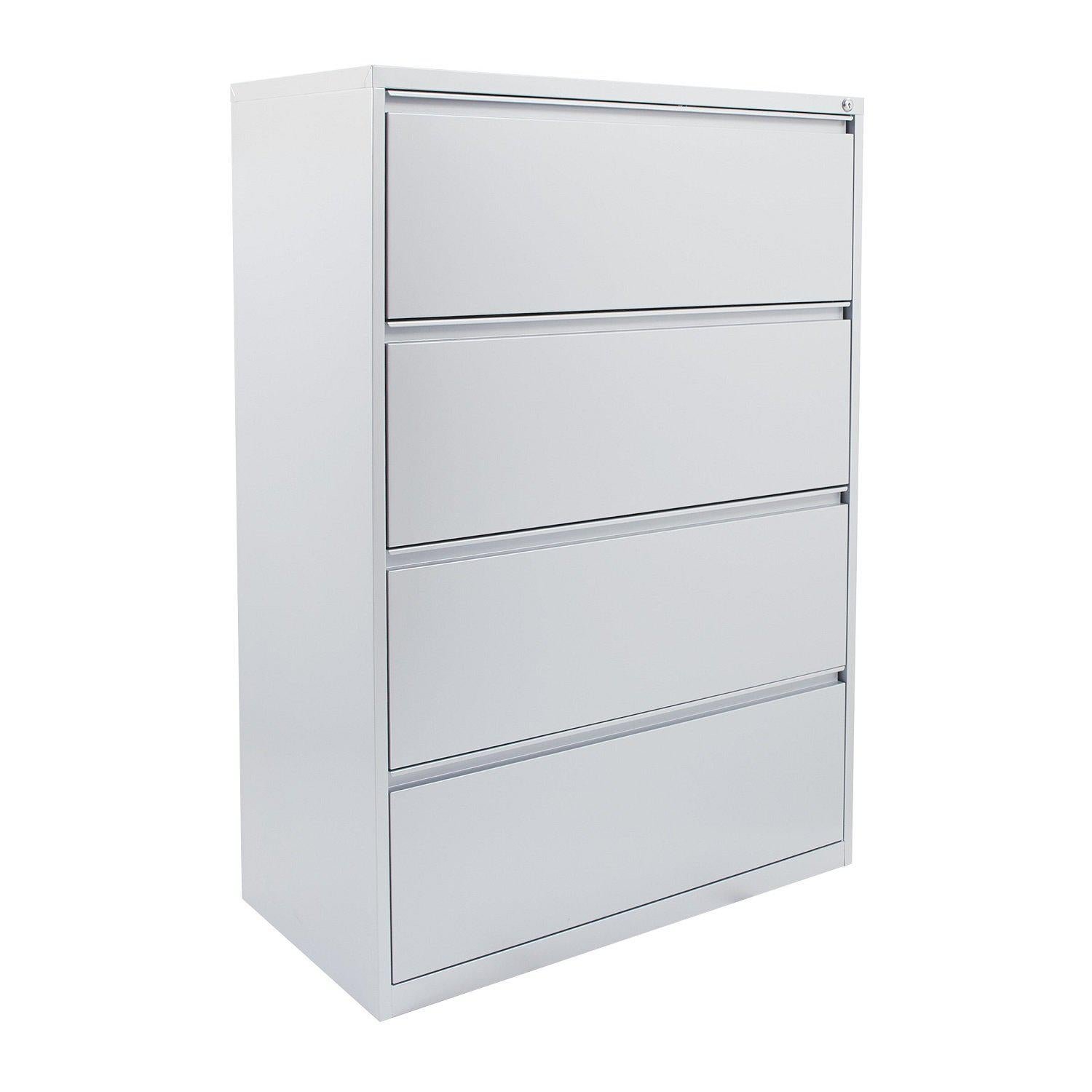 "Heavy-Duty Metal Lateral File, 36"" Wide, 4 Drawers"