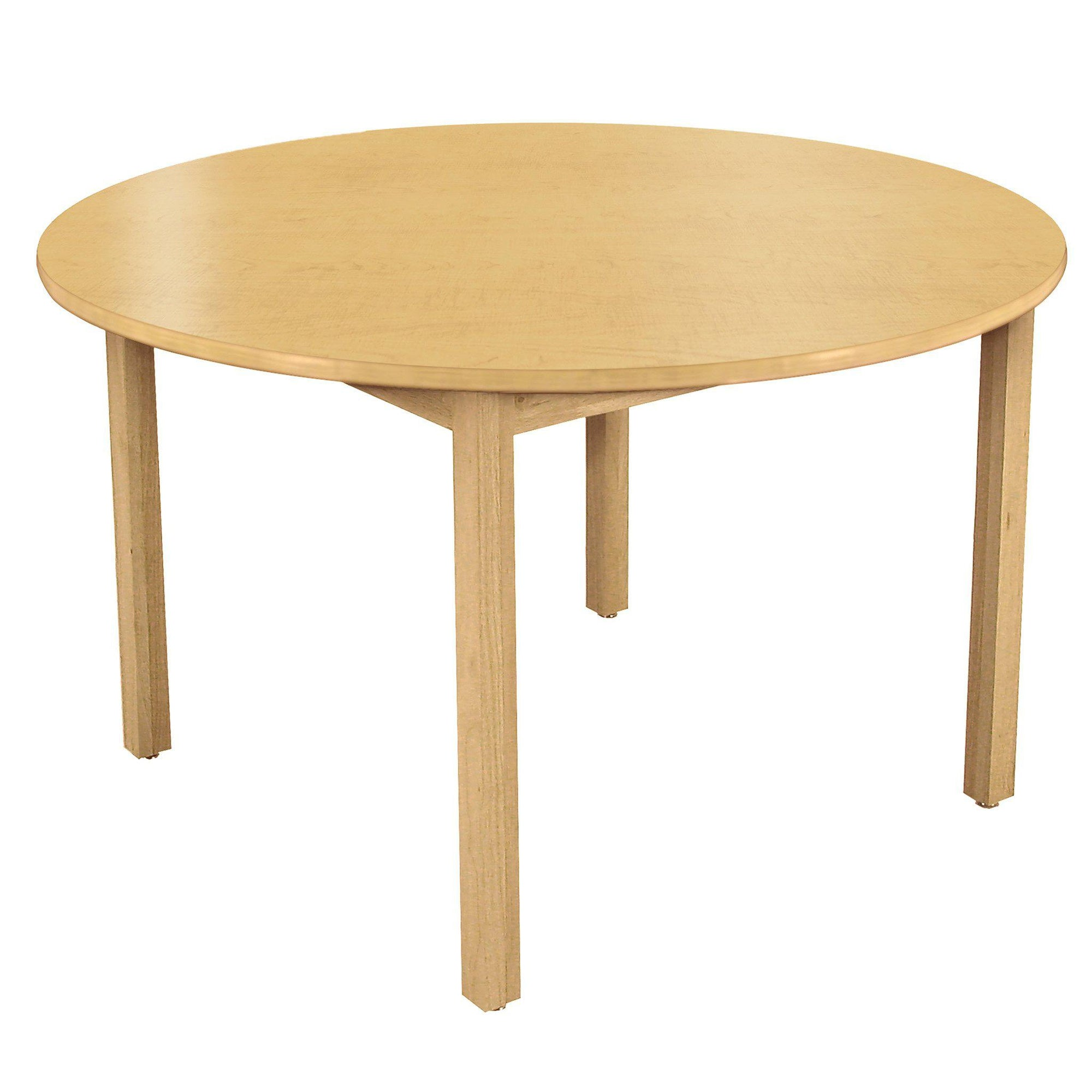 "LB Series Round Wood Library Table with High-Pressure Laminate Top, 42"" Round"