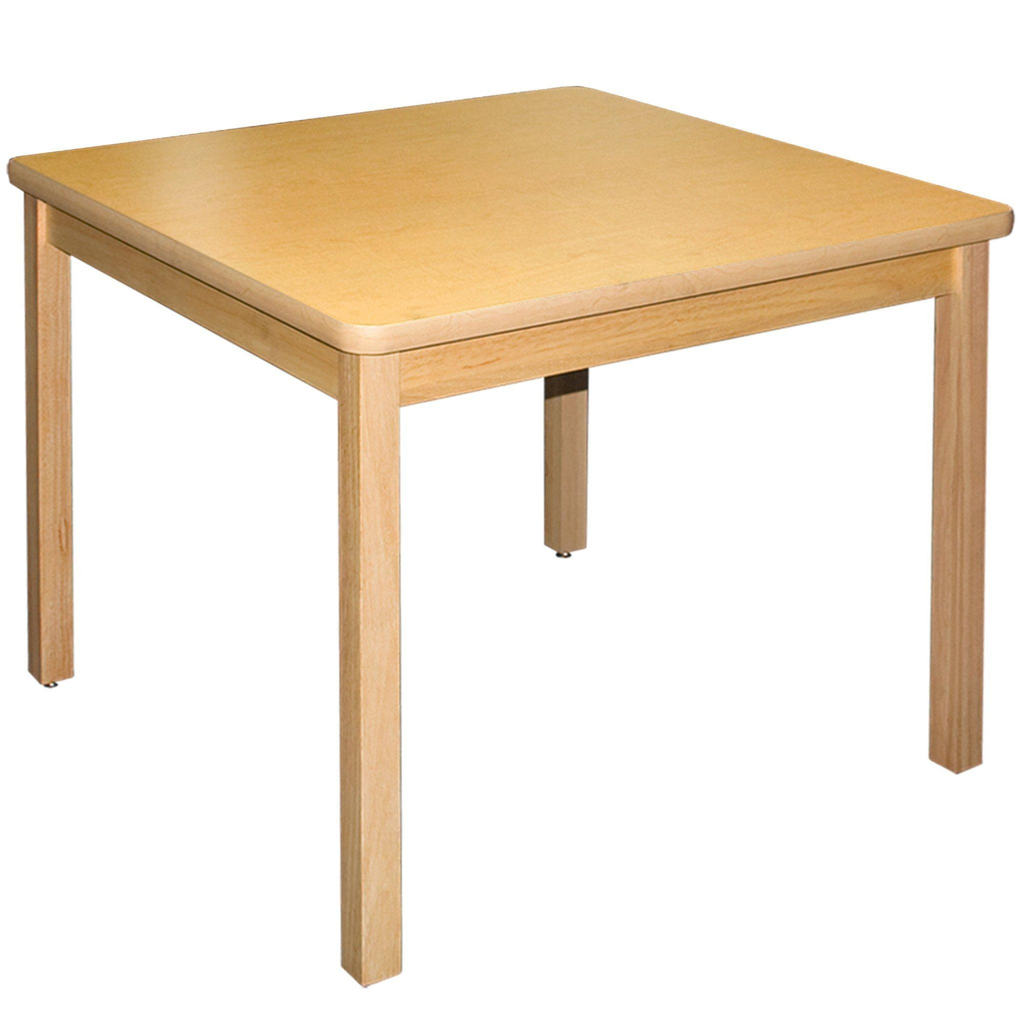 "LB Series Square Wood Library Table with High-Pressure Laminate Top, 24"" x 24"""