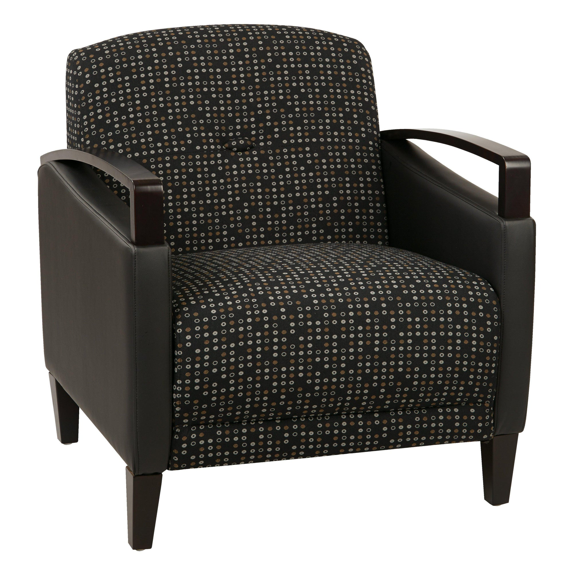 Main Street Chair with Espresso Finish and 2-Tone Upholstery