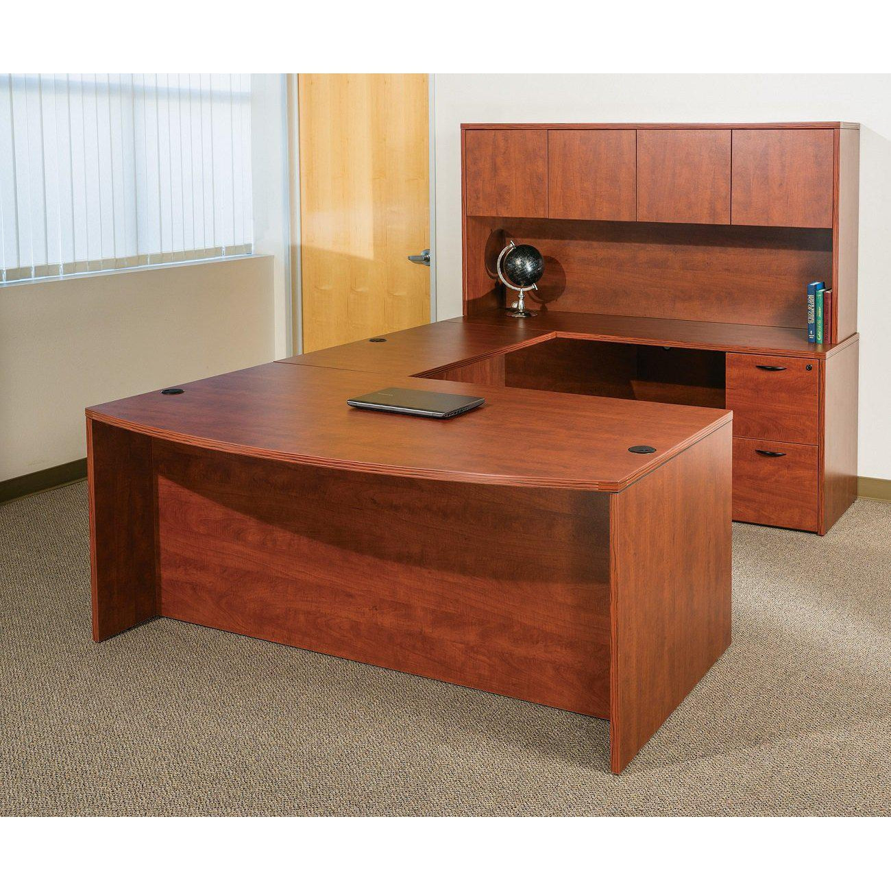 "Napa U Shape Desk with Hutch, 71"" x 113"""