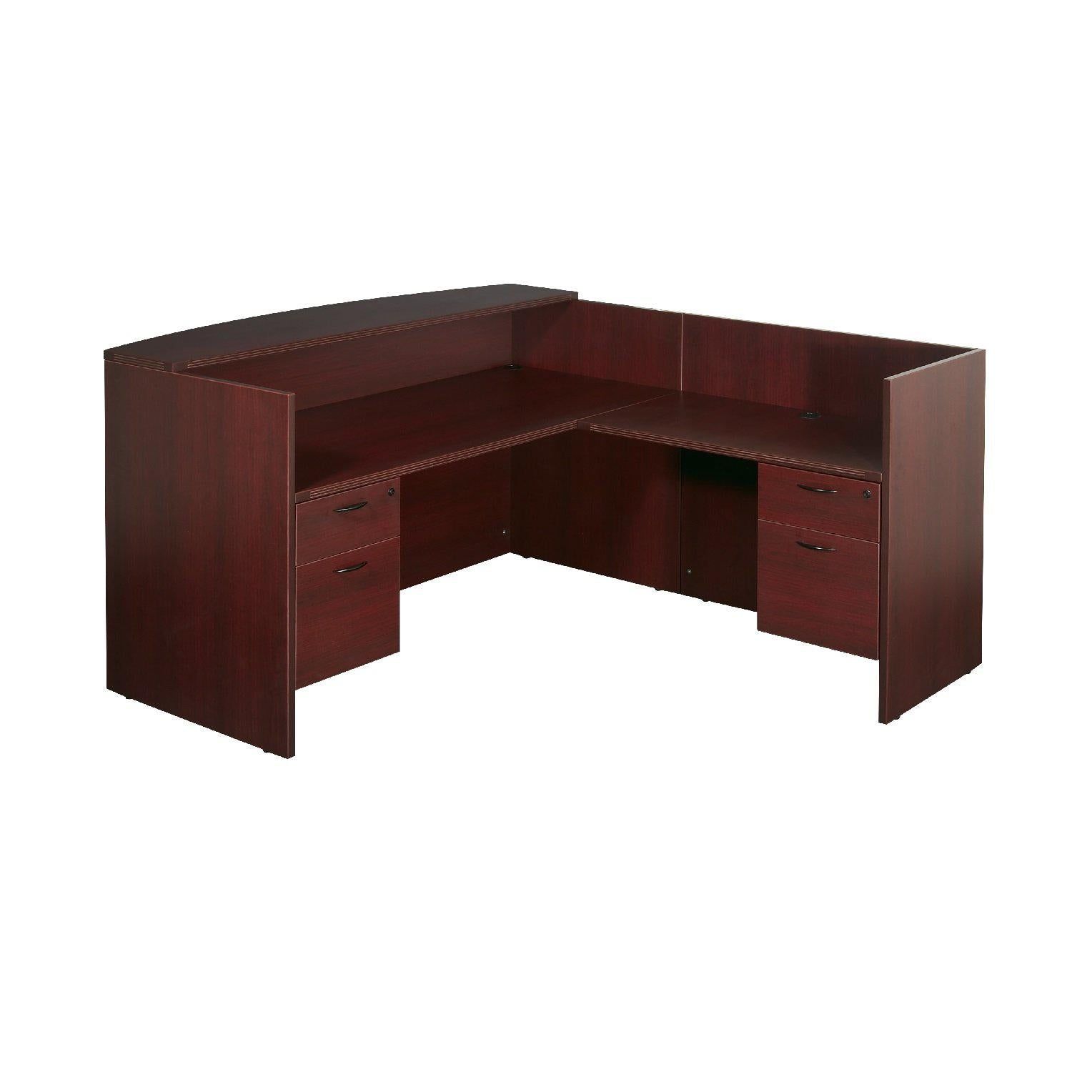 "Napa L Shape Reception Station, 77"" x 77"" x 42"" H"
