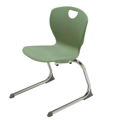 "Ovation Cantilever Stacking Student Chair with Extra Large Shell, 18"" Seat Height"
