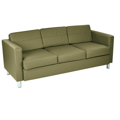 Pacific Sofa with Chrome Finish Legs