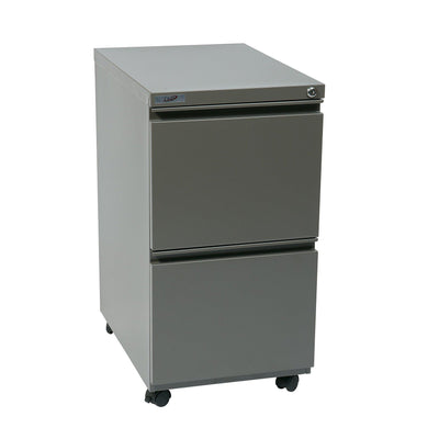 "Heavy-Duty 22"" Closed Top Mobile Pedestal with 2 File Drawers"