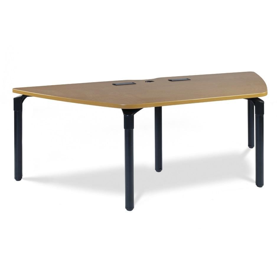 "Nextgen P-Series Library & Technology Table, 42""W x 96""L, Trapezoid, 29"" Fixed Height"