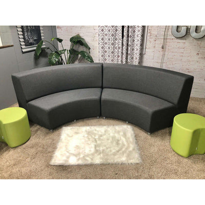 Fomcore Armless Series Sofa Curved In with 100% ALL-FOAM CORE, Antibacterial Vinyl Seat with Patterned Vinyl Back, LIFETIME WARRANTY