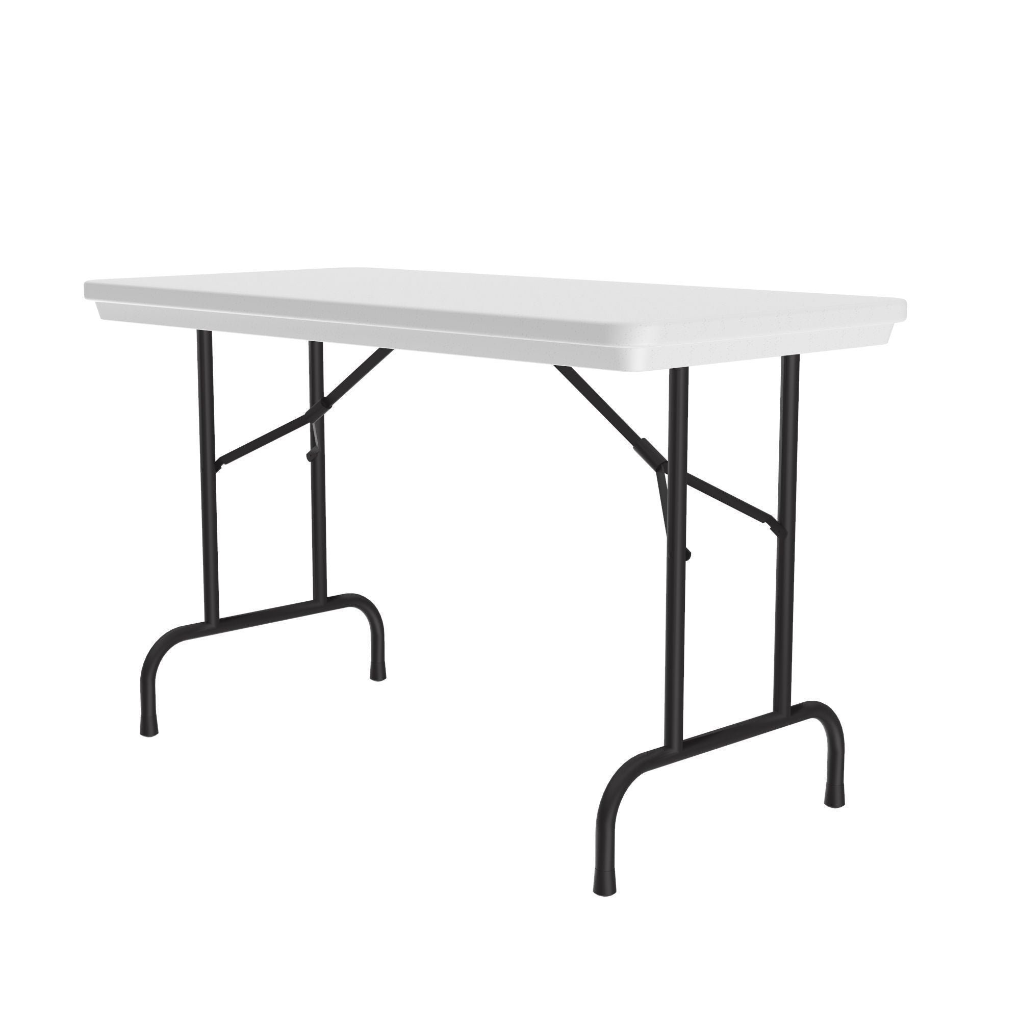 "Heavy Duty Commercial Use Blow Molded Folding Table, Standard Colors, Standard 29"" Fixed Height, 24 x 48"