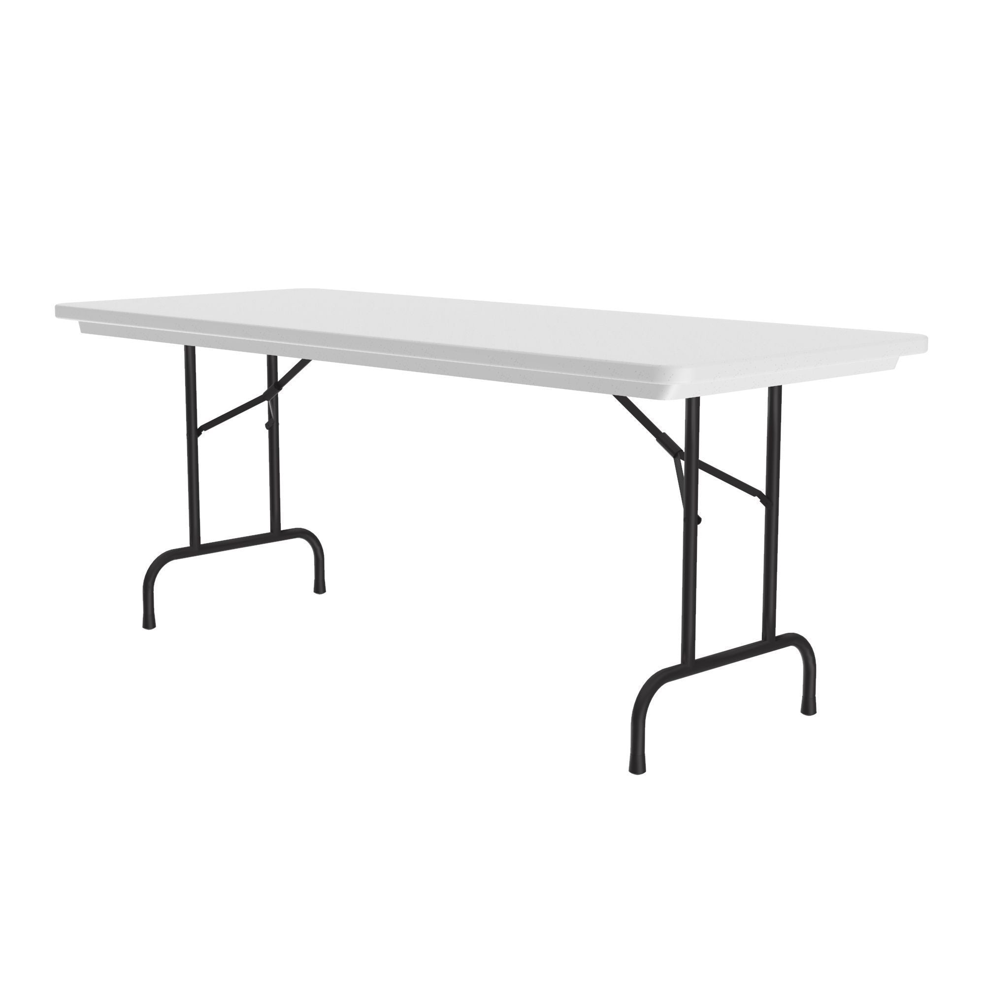 "Heavy Duty Commercial Use Blow Molded Folding Table, Standard Colors, Standard 29"" Fixed Height, 30 x 60"