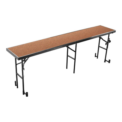 "Single Level Straight Standing Choral Risers, 18"" x 96"" Platform"