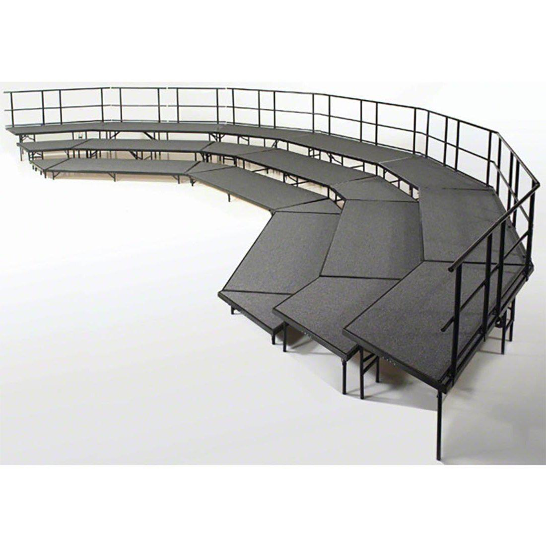 NPS® Seated Choral Riser Configuration, 3 Level