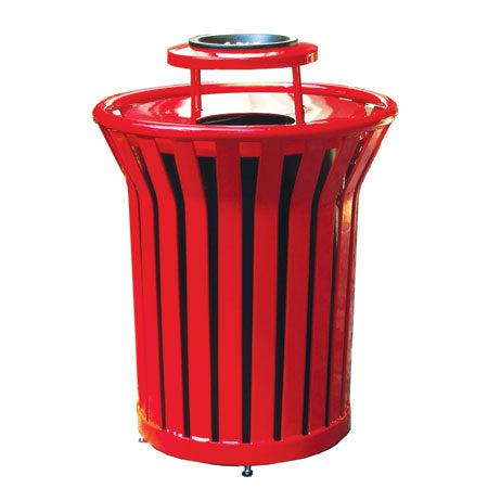 32 Gallon Welded Receptacle with Ash Bonnet Lid