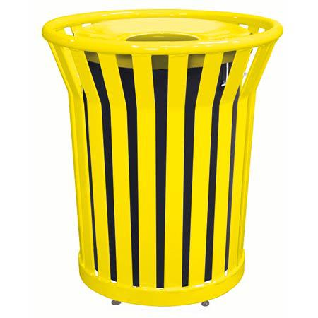 32 Gallon Welded Waste Receptacle with Spun Metal Lid