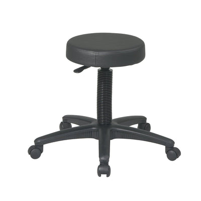 Backless Drafting Stool with Black Vinyl Seat