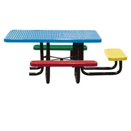 46˝x 58˝ Children's Perforated ADA Portable Table, 3 seats