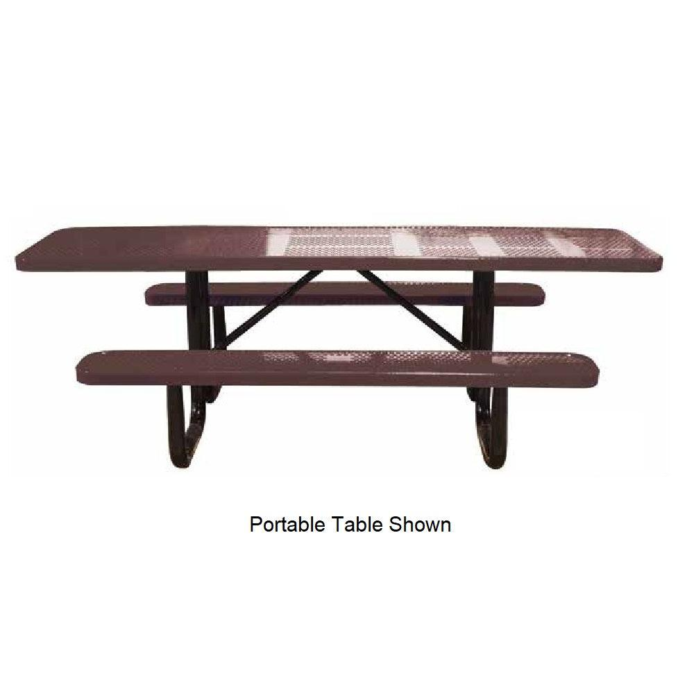 8' Portable ADA Perforated Picnic Table