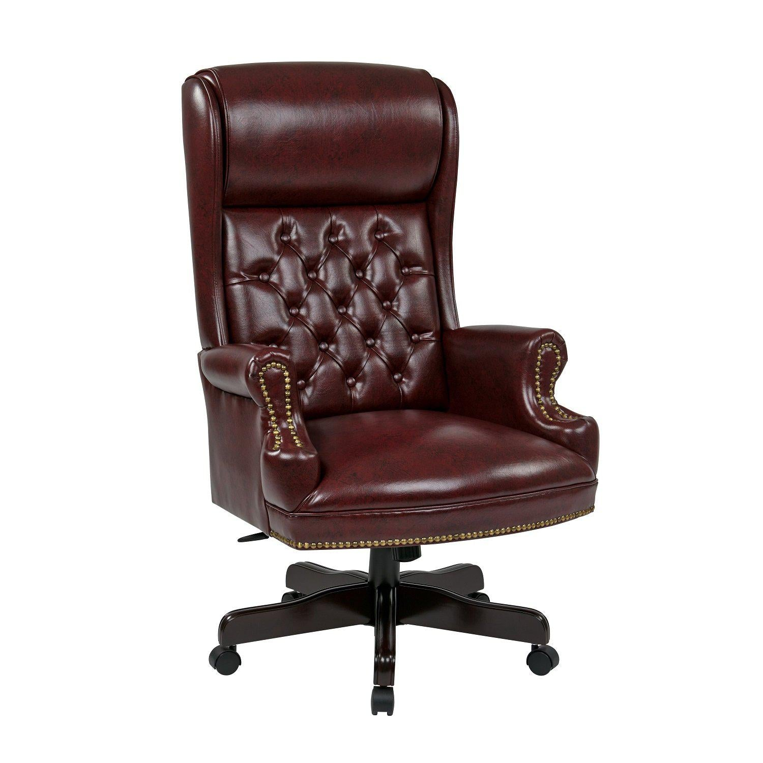 Deluxe High Back Traditional Executive Chair with Headrest