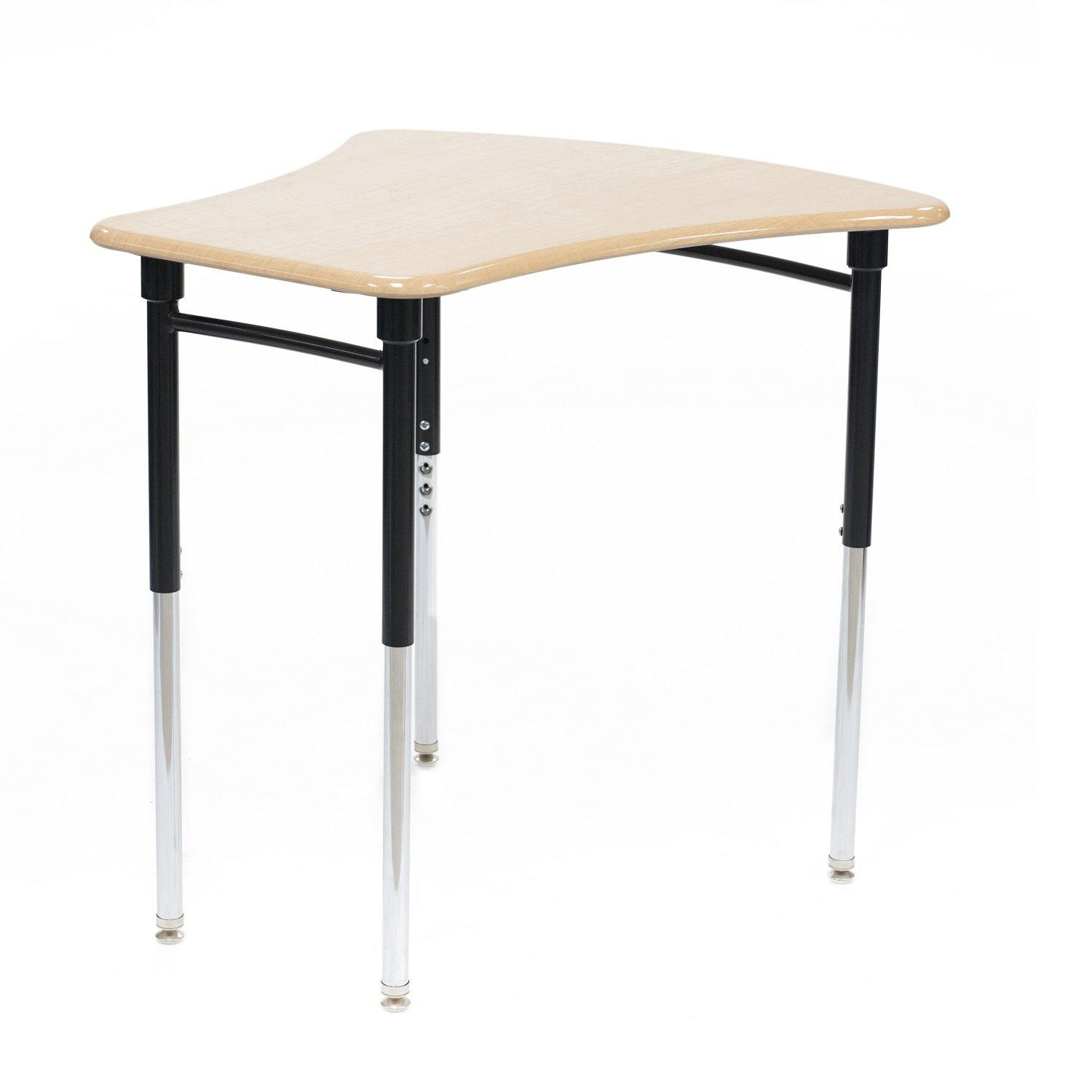 Kaleidoscope Collaborative Learning Adjustable Height Vertebrae Desk with Solid Plastic Top