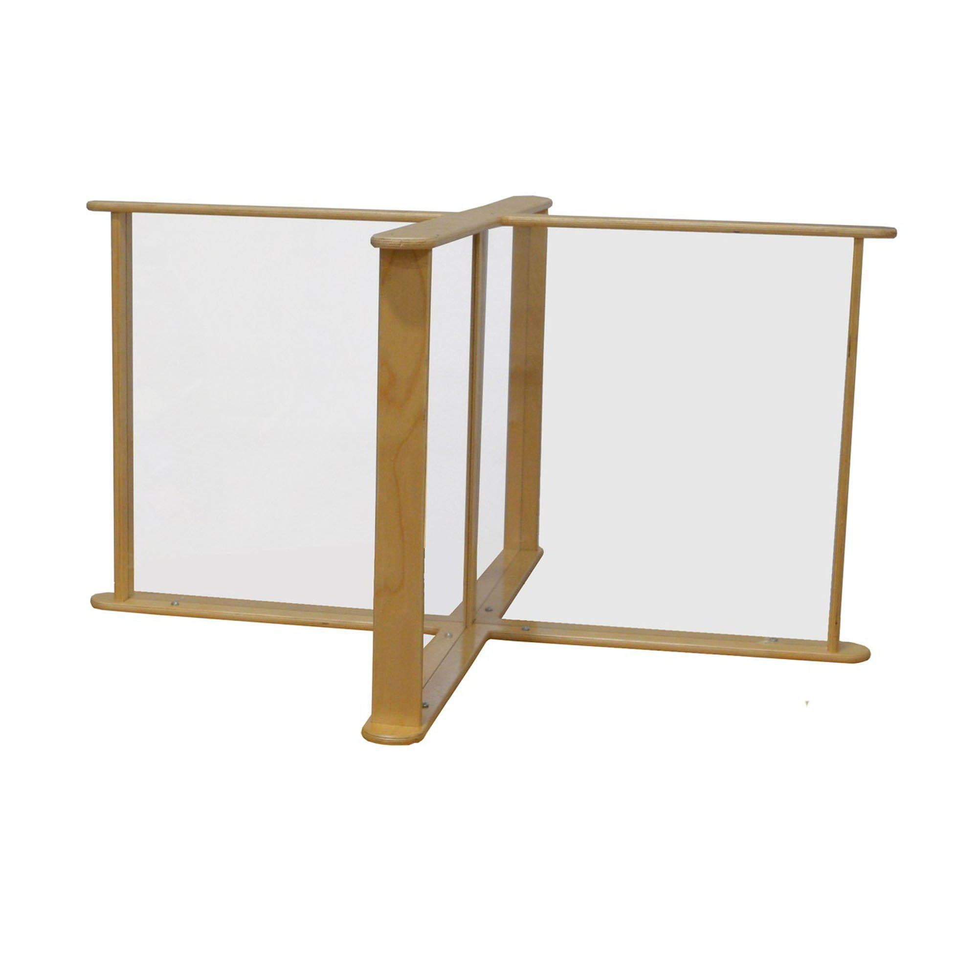 "Sneeze Guard Table Partition, 45.75"" x 45.75"""
