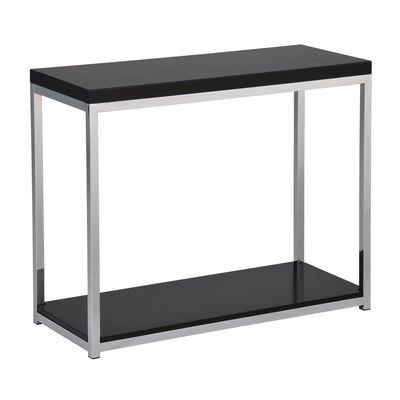 Wall Street Foyer/Sofa Table with Chrome Frame
