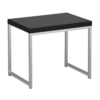 Wall Street End Table with Chrome Frame