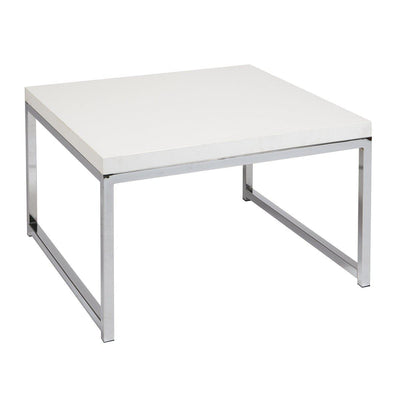 "Wall Street 28"" Accent/Corner Table with Chrome Frame"
