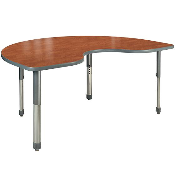 "Aero Activity Table, 36"" x 72"" Kidney, Oval Adjustable Height Legs"