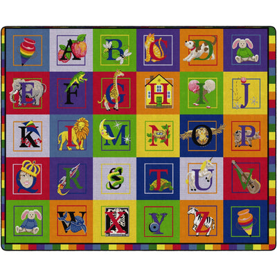 "ABC Blocks Rugs-Classroom Rugs & Carpets-10' 6"" x 13' 2""-Primary-"