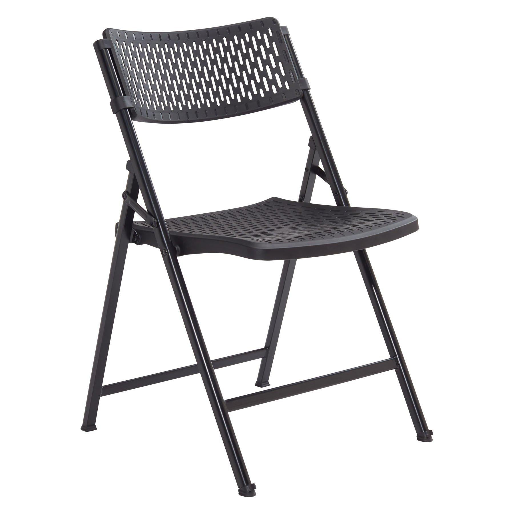 Airflex Premium Polypropylene Folding Chair, Black